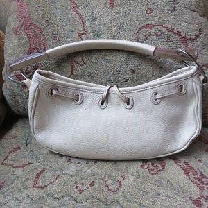 BCBGirls small cream leather bag, NWOT
